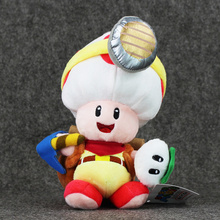 "8"" 20cm Cute Super Mario Bros Toad Plush Toys Captain Toad Soft Stuffed Dolls Birthday Gifts For Kids"