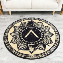 Fashion Retro Style Geometric Pattern Tea Table Sofa Round Carpet Non-Slip Living Room Bedroom Rug Home Decorator Floor Rug(China)