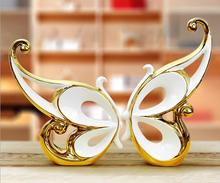 L58 The butterfly creative gifts creative Home Furnishing jewelry ceramic ornaments jewelry ceramic crafts(China)