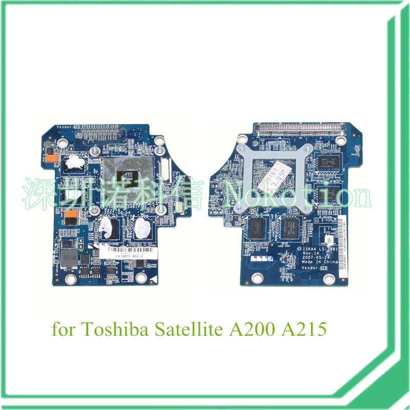 laptop graphics card for toshiba satellite A200 A215 K000051930 LS-3481P ATI HD2600 256MB<br><br>Aliexpress