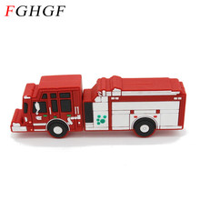 FGHGF pendrive fire truck usb flash drive pen drive car toy u disk 4GB 8GB 16GB 32GB flash memory sticks free shipping