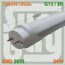 Free Shipping 10/Pack LED Tube T8 Lamp 5FT 1500MM 24W G13 SMD2835 Two Pin Frosted Clear Cover(China)