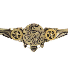 Steampunk Antique Angle Wings Gears Pendant Long Chain Statement Necklace New Arrival