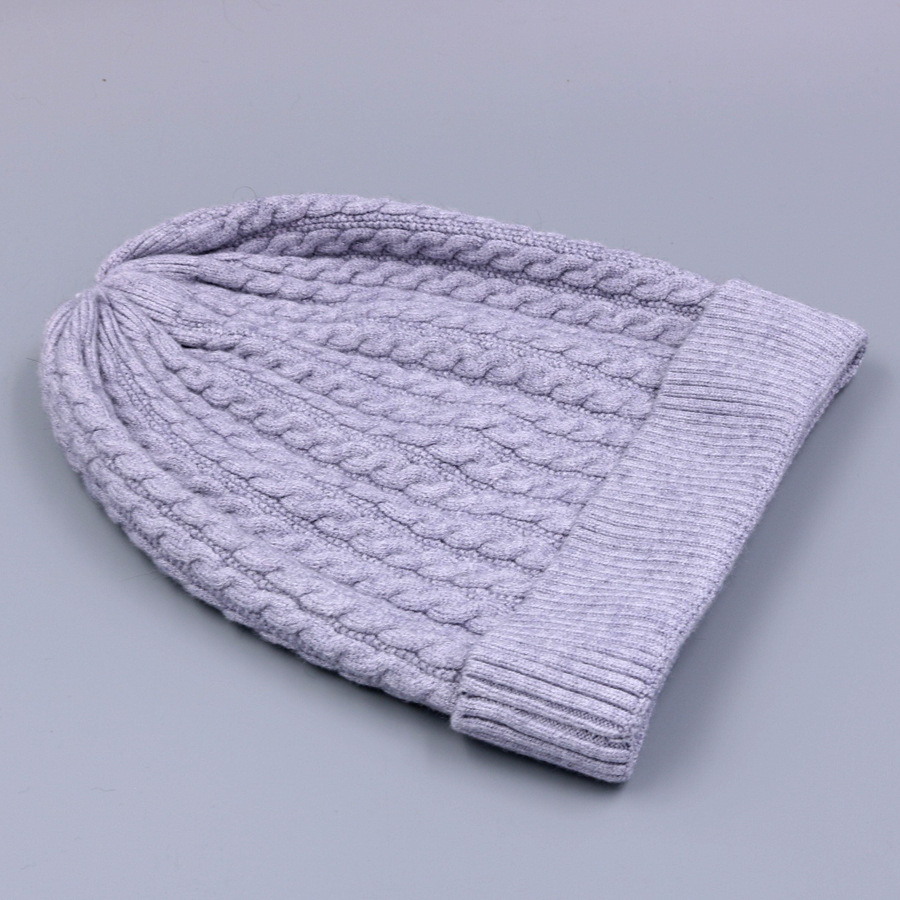 Women's Winter Hat Knitted Wool beanies Skullies Female Causal Mask Ski Thicker Warm Pompon Hats For Women  (10)