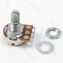 Free Shipping 10pcs/lot New A500K Split Shaft Pots Potentiometer Guitar Audio Tone Switch