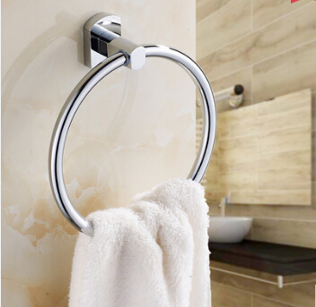 Top High quality  brass chrome wall mounted round Bathroom towel ring towel rack bathroom accessories<br><br>Aliexpress