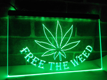 LA404g- Free the Weed High Life LED Light Sign