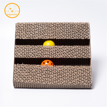 Hot Sale Cat Scratch Board Corrugated Paper Cat Toys Catnip Scratcher With Two Bell For Pet Training Cat Claw Scratching MPE140(China)