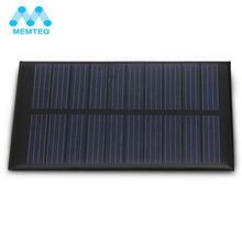 MEMTEQ Hot Sale 5V 200MA 1W Solar Panel Charger Solar Battery DIY For Power Toys Charger Home Lighting Solar flat Battery(China)