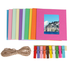 6inch/7Inch Photo Frame Hot Sell Gift DIY Wall Hanging Paper 10 colors Photo Frame Wall Picture Album Wholesale(China)
