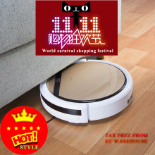 V5S Robot Vacuum Cleaner Mop home floor Washing, house sweeping cleaning, free shipping 2600mHa 350ML water tank(China)