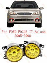 Car styling Refit Yellow LED Fog LAMP Lamps  For focus2 saloon   2005-2015  2 PCS