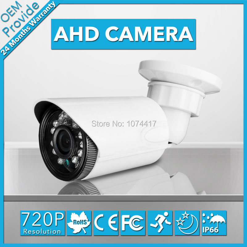 AHD3610LK  With Bracket CMOS 2000TVL IR-Cut Filter AHD Camera 720P Indoor / Outdoor Waterproof 3.6/6mm Lens Security Camera<br>