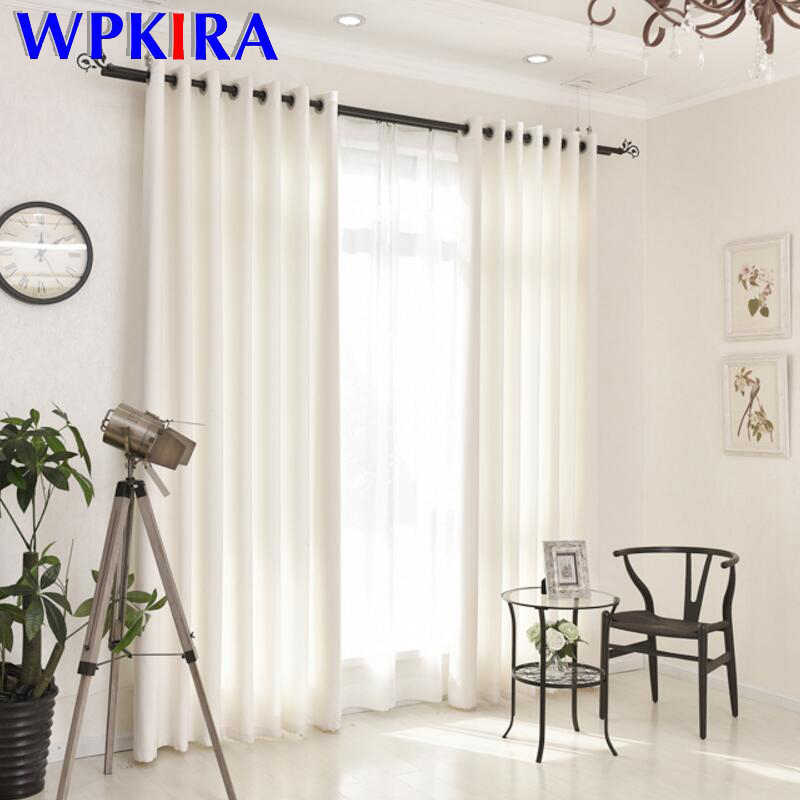 White Curtain Drapes For Beauty Salon Fitting For Living Room Semi-Blackout Curtains Velvet Linen Fabric Cloth Custom HC007-30