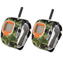 2 PCS Portable Watch Walkie Talkie LCD Display 462MHz-467MHz Freetalker Watch Walkie Talkie with Earphone Up to 6km of Range