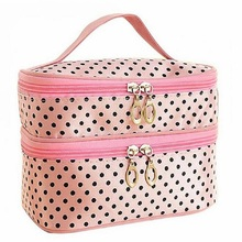 2017 New Wash Beautician Vanity Necessaire Trip Beauty Women Travel Toiletry Make Up Makeup Case Cosmetic Bag Organizer Box