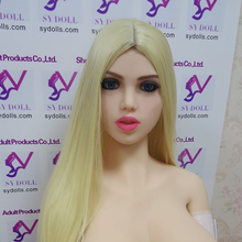 Buy SYdoll39# real sex dolls head European girl 135cm 170cm big breasts/flat chest/small breasrs pregnant fat ass doll