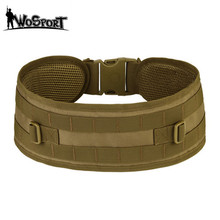 WoSport Battle Belt MOLLE Lightweigt Tactical Hunting Gear Suregrip Padded Patrol Belt Adjustable Military Girdle Waist Support(China)