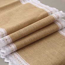 party decoration white table runner linen fashion lace table runner wedding
