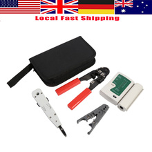 Buy LAN Network Tool Set Kits Cable Tester Crimper Wire Stripping Pliers Cutter Cable Tester Crimper Wire Cutter Punch for $11.51 in AliExpress store