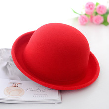 Hot Sale !! 2015 Vintage Women Lady Cute Trendy Wool Felt Bowler Derby Fedora Hat Cap Hats Caps(China)