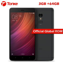 "Original Xiaomi Redmi Note 4 3GB RAM 64GB ROM Mobile Phone MTK Helio X20 Deca Core 5.5"" FHD 4100mAh Fingerprint ID 13MP Camera"