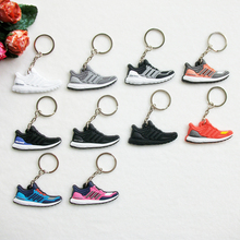 Mini Silicone Ultra Boost Keychain Bag Charm Woman Men Kids Key Ring Gifts Sneaker Key Holder Accessories Jordan Shoes Key Chain(China)