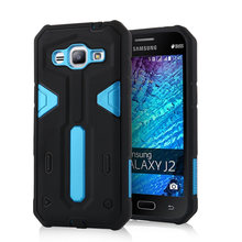 For Samsung Galaxy J2 [Cool Robot] PC + TPU Hybrid Cell Phone Back Case Armor Cover Dust Plug Drop Protection Fashion