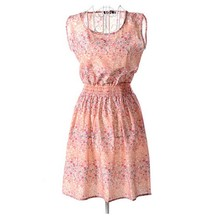 Summer Women Dresses Slim Floral Print Chiffon Short Beach Mini Dress Vestido