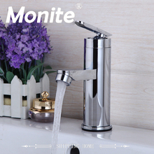 US Bathroom Faucet Basin Sink Tap Hot and Cold Water Mixer Tap Deck Mounted Bathroom Faucet Without the Hose(China)