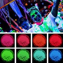 12 Colors Hot Fluorescent Super Bright Glow Powder Glow Pigment DIY Nail Art Powder