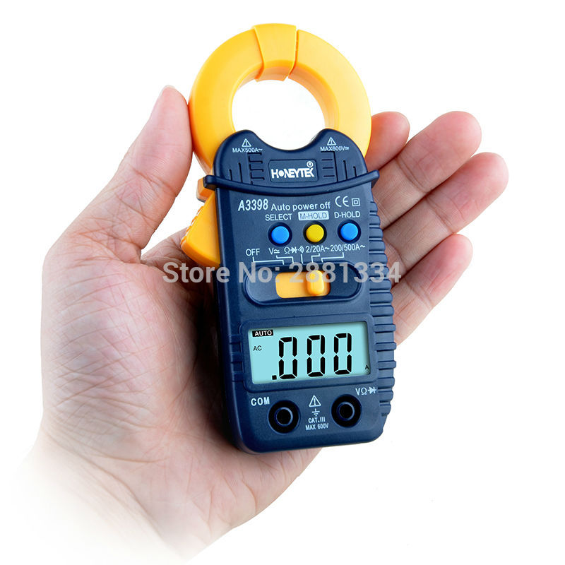 A3399 Digital LCD Clamp Multimeter Meter Current ACDC Voltage Resistance Capacitance Frequency Temperature Tester Detection (7)