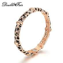 Top Quality Luxury Cubic Zirconia Leopard Bracelet & Bangle Rose Gold Color Fashion CZ Stone Jewelry For Women DFB026(China)