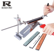 RUIXINPRO III Knife Sharpener Professional Iron Steel Kitchen Chef Sharpening System Tools Fix-angle With  4 Stone Whetstone
