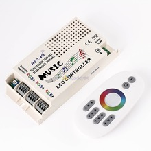 2.4G DC12-24V Wireless RF Remote Control LED Music Controller RGB led Controller 3-Port for RGB LED Strips