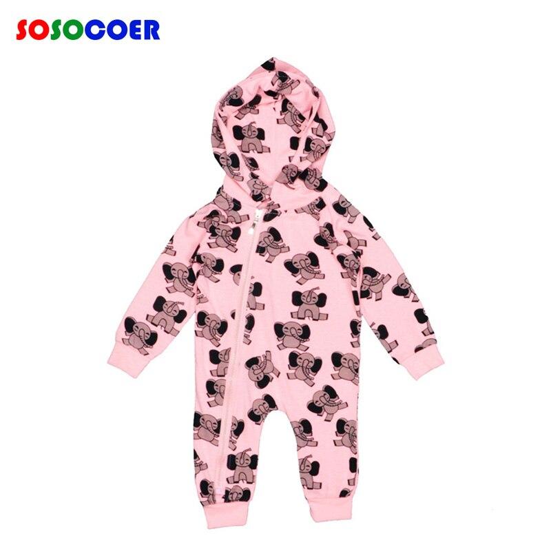 Baby Elephant Rompers Long Sleeve Boy Girl Hooded Romper Newborn Jumpsuit Cute Cartoon Elephant Newborn Clothes ropa bebe recien<br><br>Aliexpress