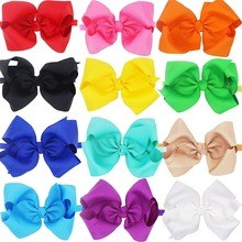 12Pcs 8 inches kids Girls Big Hair Bows Headbands Large (Soft Stretchy Hair bands)(China)
