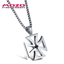 Buy New 2016 Men Stainless Steel Cross Pendant Choker Collar Necklace Hot Punk Jewelry Accessories Silver Statement Necklace MGX1049 for $5.49 in AliExpress store
