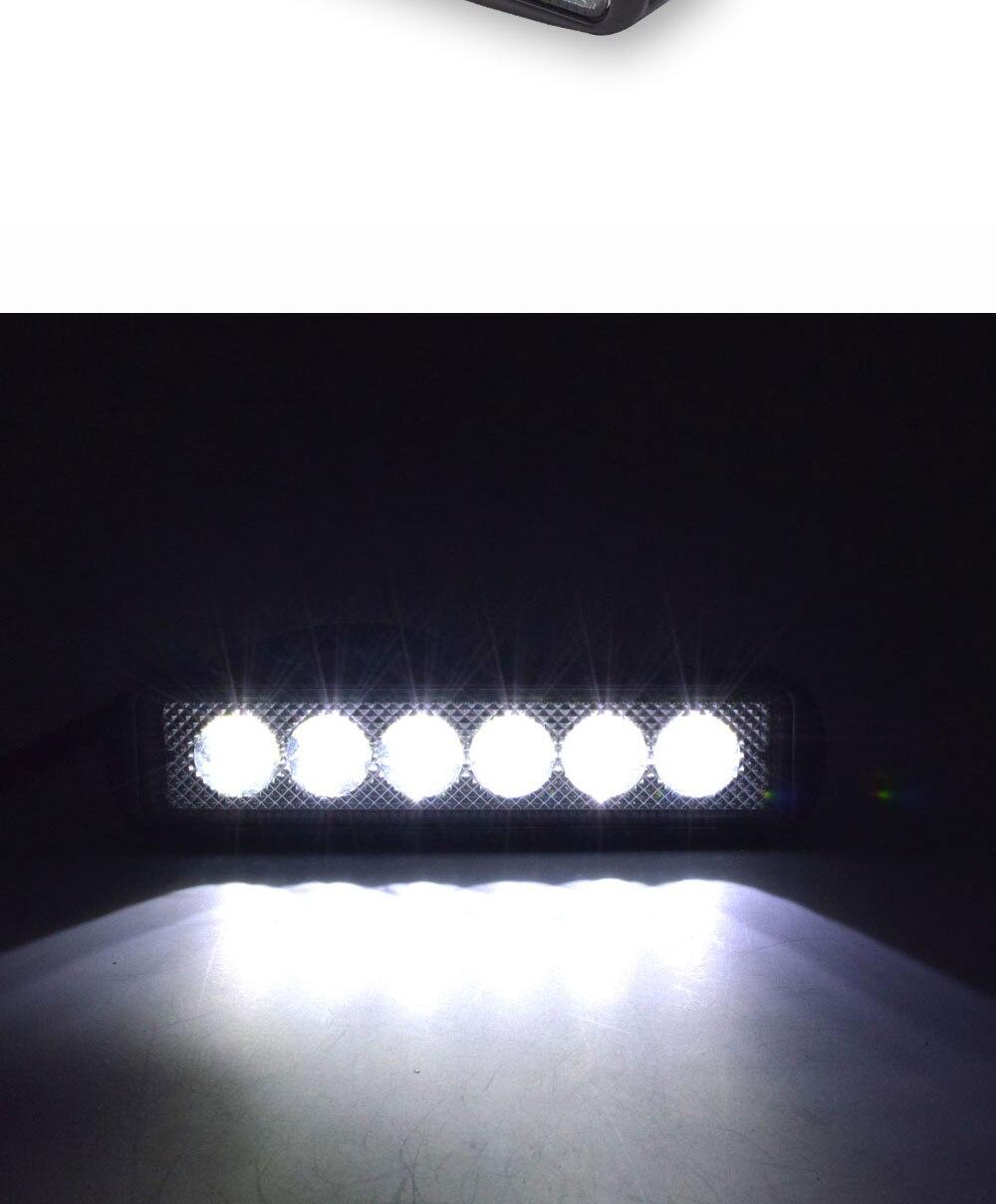 12V 24V Auto LED Light 18W Car Work Lamp Boat Vehicle Top Head Bulb 2000LM IP67 Waterproof Flood Beam Lighting Spot Lights (7)