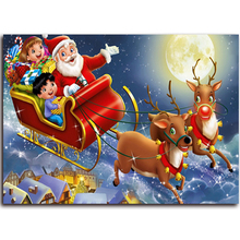 Santa Claus Diamond embroidery Christmas picture with rhinestones and diamonds crafts Moose and gifts cross-stitch portraits kit(China)