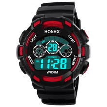 Hot Children Watch Boys Life Waterproof Digital LED Sports Watch Kids Alarm Date Watch Gift reloj digital hombre Reloj Deportivo(China)