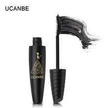UCANBE Cool Black Rimel Mascara Waterproof Makeup Volume Curling Lengthening 3D Fiber Lashes Liquid Eyelash Extension Make Up(China)