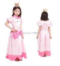 Shanghai Story Children halloween costumes,girls The little peach  princess cosplay costumes For girls 4-12age