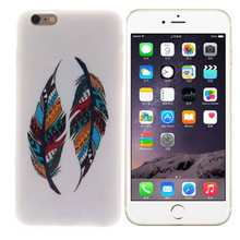 [Buy 3 get 4] Soft Silicone  Case for Apple iPhone 6 6s 4.7 inch Cover  Back Protecter Quality Ultra Thin Gel Bag Shell, feather