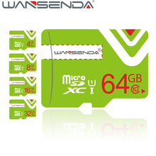 Fashion Design WANSENDA Green Micro SD Card TF Card Real capacity 4GB 8GB 16 GB 32 GB 64GB High Speed Memory Cards gift