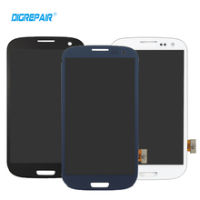 White Black Blue For Samsung Galaxy S3 i9300 LCD Display Touch Screen Digitizer Full Assembly Replacement, Free Shipping(China)