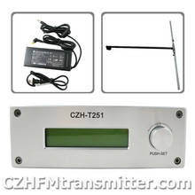 CZH CZE-T251 0-25W power adjustable Professional FM stereo broadcast transmitter +1/2 wave dipole antenna  kit