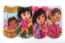 4pairs/lot  cotton children cartoon socks boy kids Amour aventure Dora 3D printed Brand ankle socks