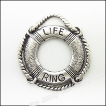 HAEQIS Wholesale Jewelry Accessories Life Ring Shape Alloy Vintage Charms For Swimming Lover 22*24mm AAC1194