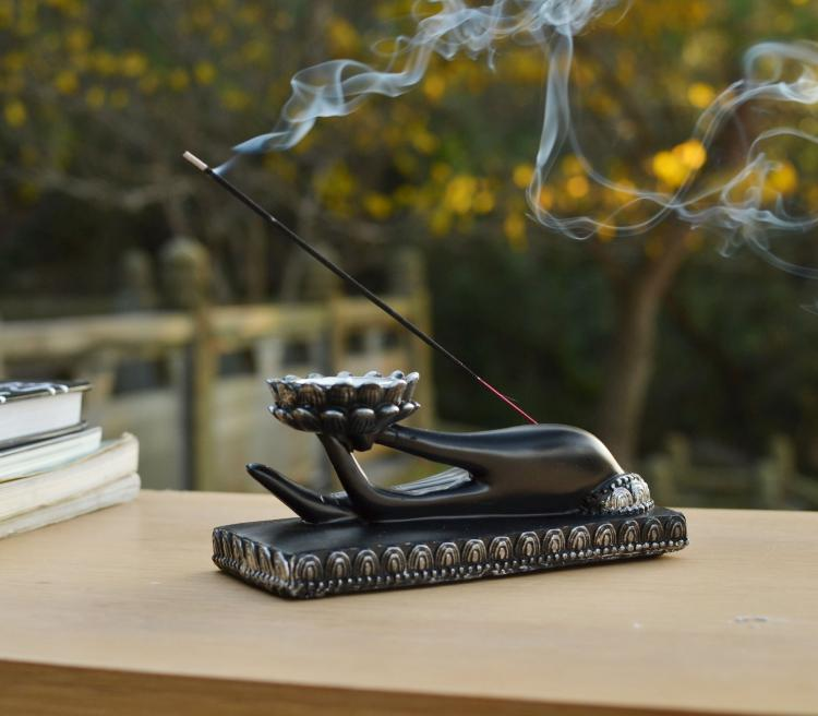 Buddha's Palm Incense Burner